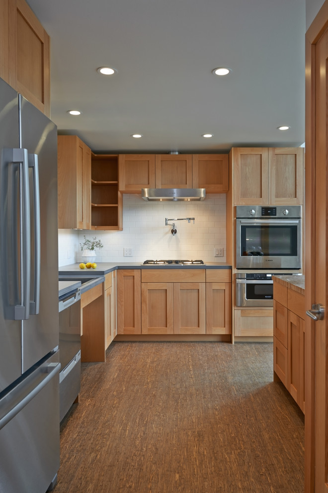bosch universal mixer Kitchen Transitional with accessible design Aging in Place Designs aging in place kitchen gray countertop