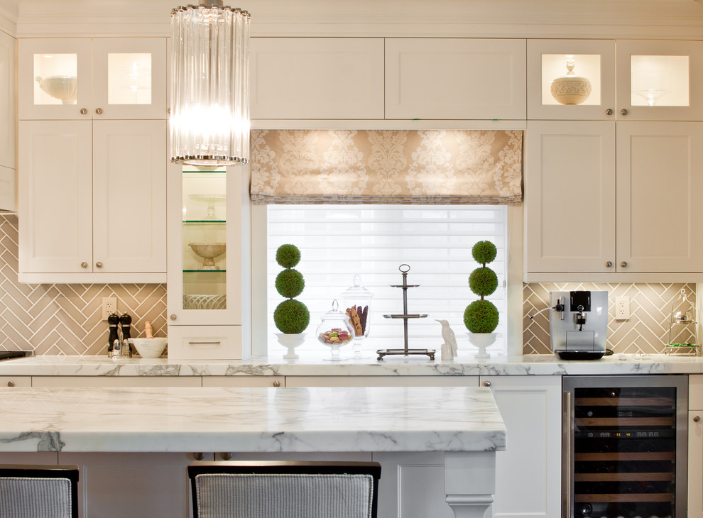 boxwood topiary Kitchen Victorian with backsplash beverage centre beverage cooler chandelier chevron contemporary counter stools damask frame