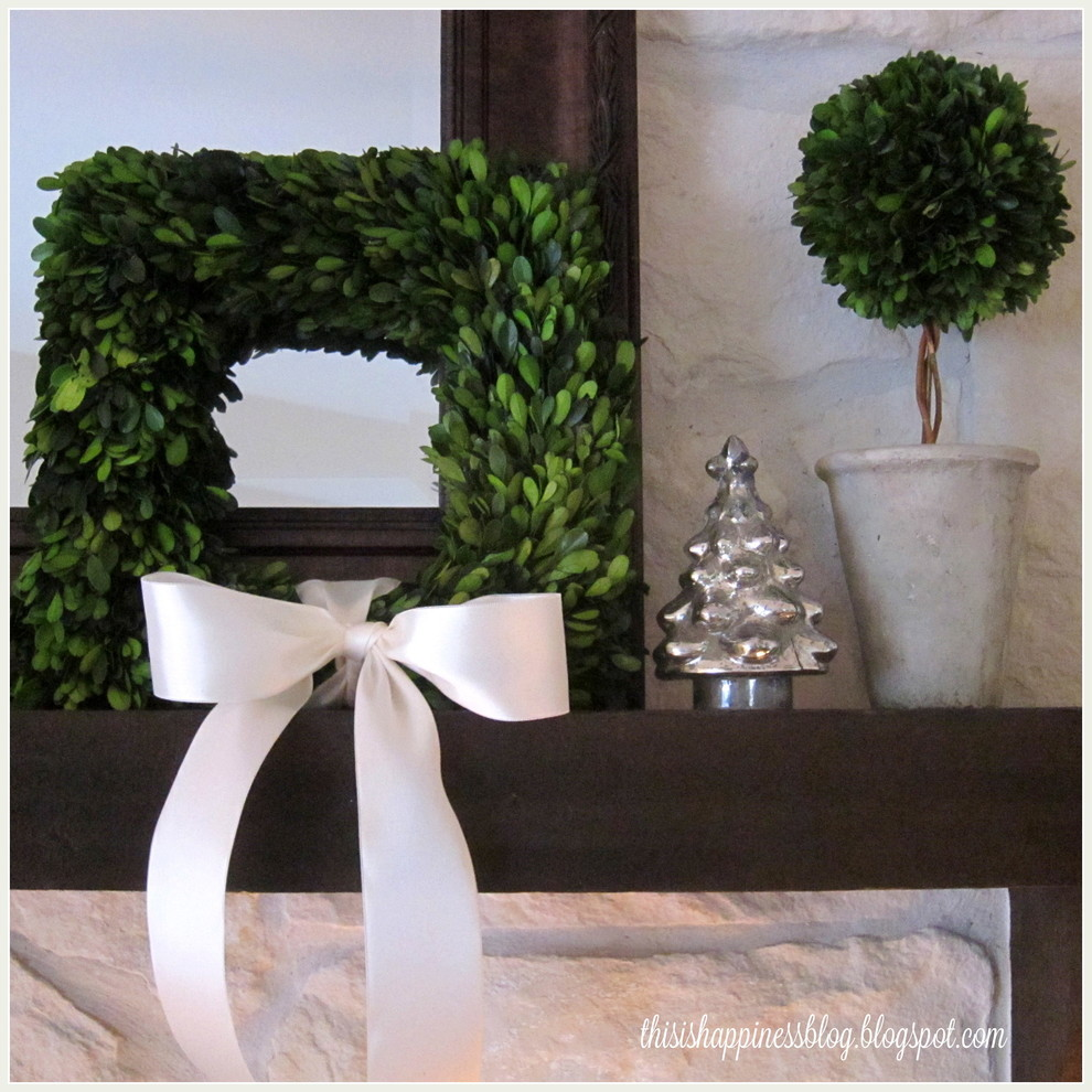 boxwood topiary Living Room with none