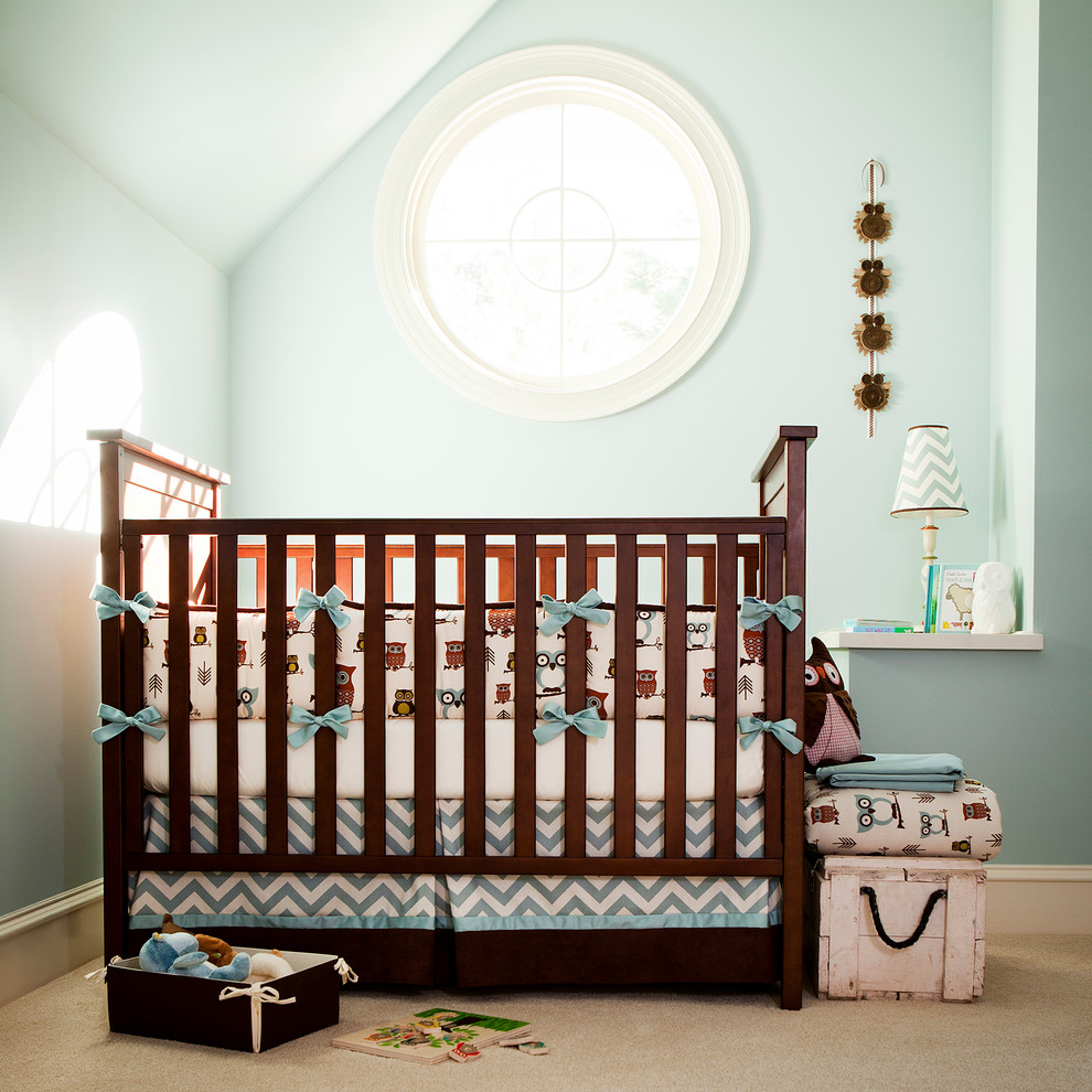boy crib bedding Kids Transitional with animal print Aqua - Turquoise baby bedding blue boy crib bedding drapes