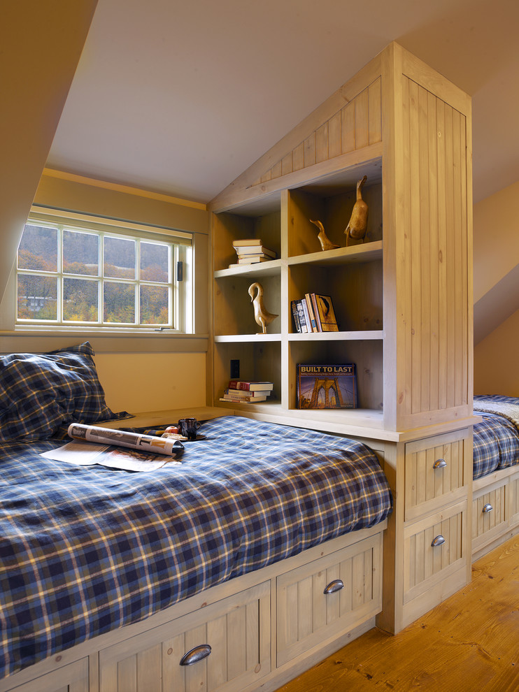 boys comforter sets Bedroom Traditional with attic bookcase bookshelves built in bed built in shelves bunk room guest