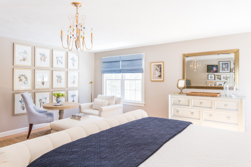 Brass Chandelier Bedroom Transitional with Alabaster Lamps Art Work Blue Chair Classic Clean Costal Custom Furniture Display