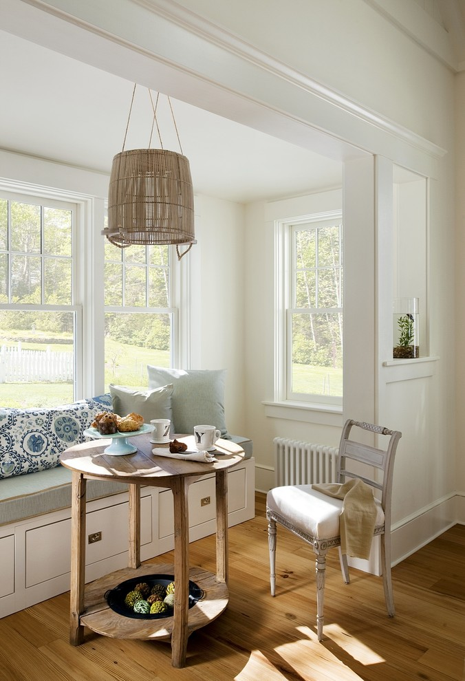 Breakfast Nook Bench Dining Room Beach with None