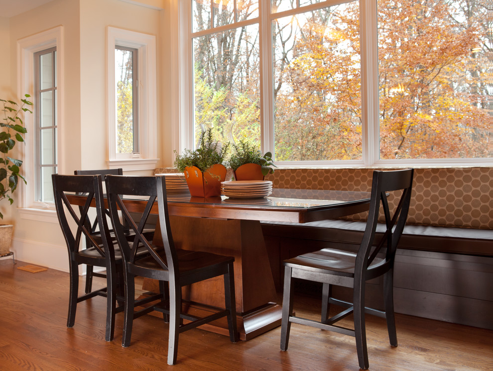 Breakfast Nook Bench Kitchen Transitional with None