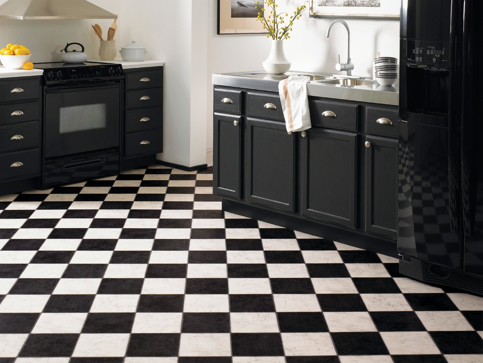 Breville Compact Smart Oven Kitchen Traditional with Black and White Kitchen Flooring Ideas Kitchen Kitchen Floor Ideas Kitchen Flooring