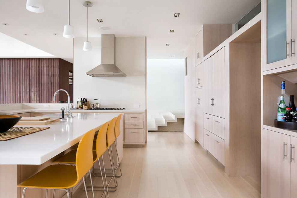 Breville Juicers Kitchen Contemporary with Beach House Bleached Wood Contemporary Home Contemporary Kitchen Eat in Kitchen Floating Shelf