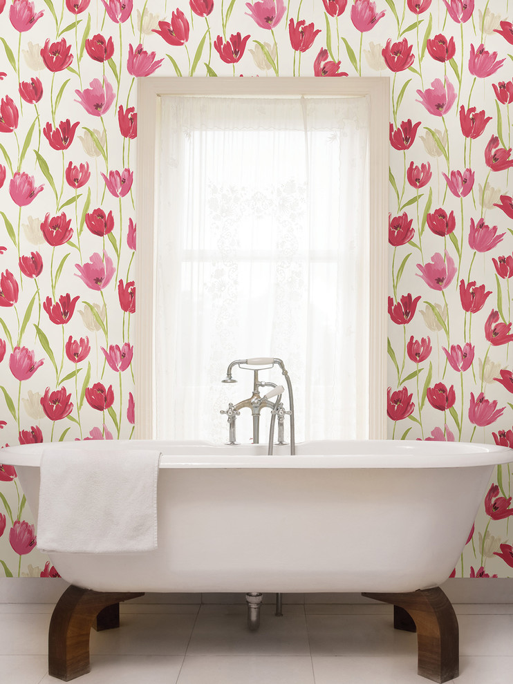 Brewster Wallpaper Bathroom Tropical with Bathroom Wallpaper Brewster Wallpaper Kitchen Wallpaper Large Tulip Wallpaper Pink Tulip Wallpaper