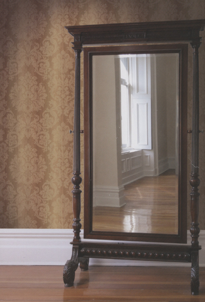 Brewster Wallpaper Spaces Traditional with Antique Mirror Beautiful Wallpaper Brewster Wallpaper Brown Damask Brown Damask Wallpaper Classic