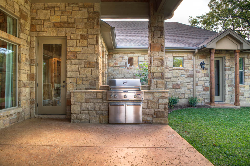 Brinkmann Grill Cover Patio Mediterranean with Built in Grill Concrete Patio Glass Door Grill Countertop Lawn Outdoor Lighting Square