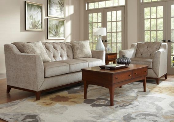 Broyhill Chairs Family Room with Broyhill Furniture Casual Elegance Coffee Table Comfortable Custom Made Decorative Pillows Family Room
