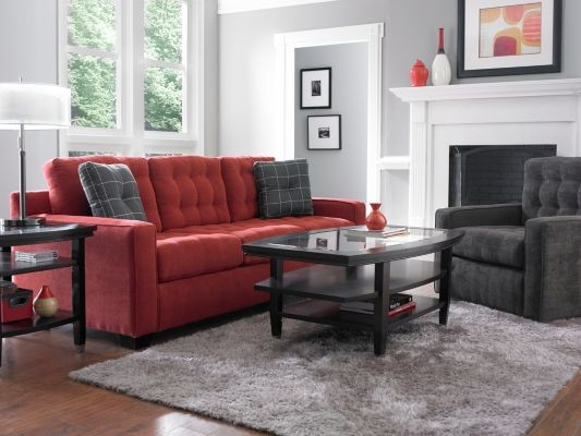 Broyhill Sofas Family Room with Broyhill Furniture Clean Lines Comfortable Contemporary Design Couch Decorative Accents Glass Top