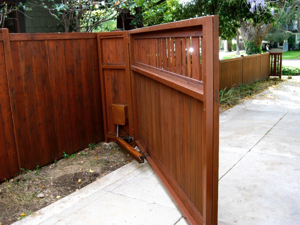 Buffet and Hutch Exterior Craftsman with Brentwood Contemporary Culver City Door Driveway Electric Gate Hand Crafted Handmade Horizontal
