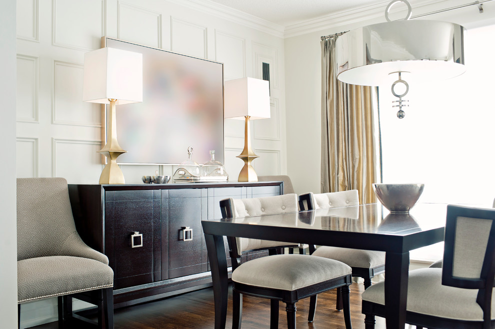 Buffet Lamp Dining Room Contemporary With Brass Console