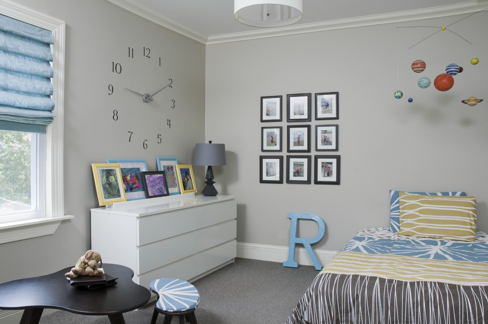 Bulova Clocks Kids Contemporary with Baseboards Bedroom Chest of Drawers Crown Molding Dresser Gallery Wall Mobile Art