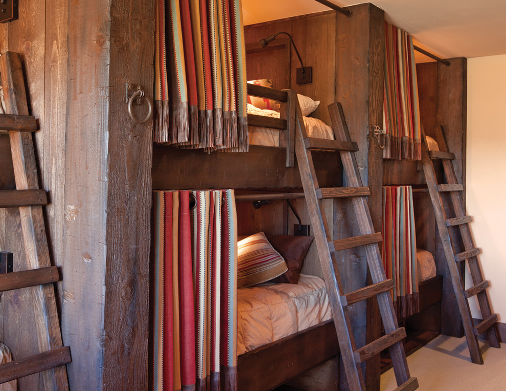 Bunk Bed Designs Bedroom Rustic with Barnwood Bed Curtains Built in Bunks Bunk Beds Bunk Room Bunks Cabin Colorado