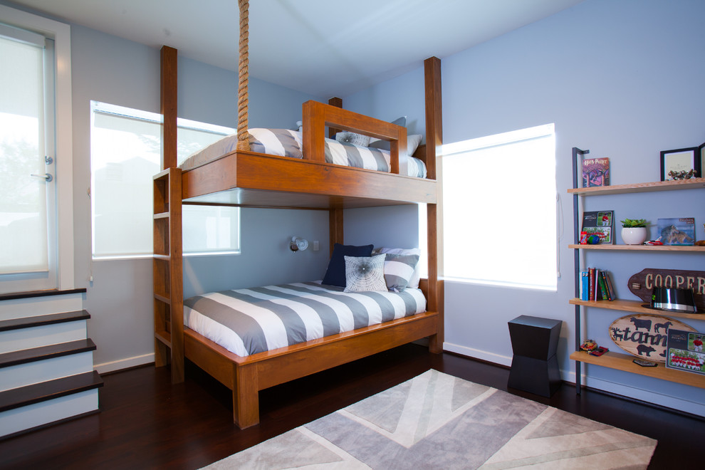 bunk bed designs Kids Contemporary with bookshelf bunk beds cowboy glass door gray and white gray union jack