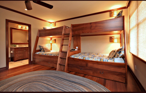Bunk Bed Twin Over Full Kids Tropical with Bunk Beds Hawaii Architect High End Honolulu Architect Kailua Architect Kids Bedroom Luxury