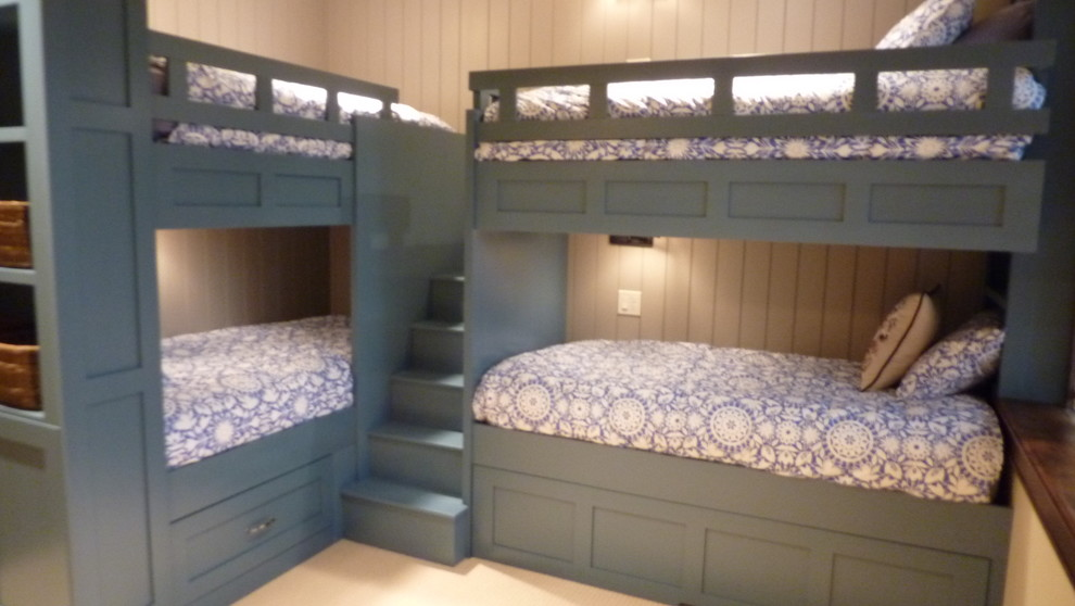bunk bed with stairs Kids Traditional with beds built ins bunk beds kids beds l-shaped bunk beds nautical