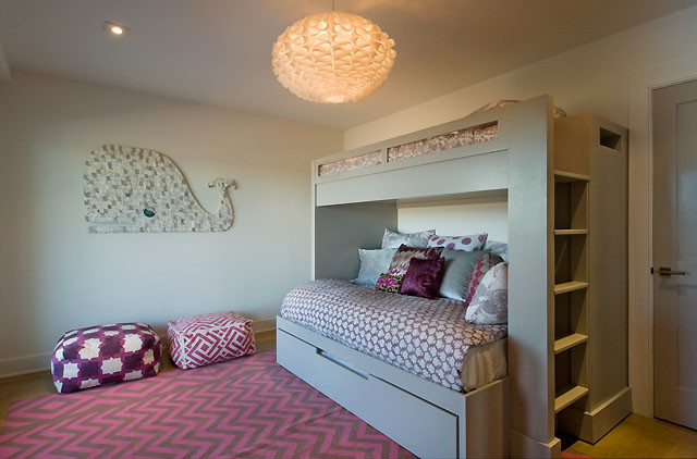 Bunk Beds with Trundle Bedroom Modern with None