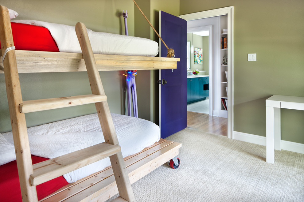 Bunk Beds with Trundle Kids Contemporary with Architecture Austin Bedroom Blue Door Build Bunk Bed Bunk Bed Ladder Bunk