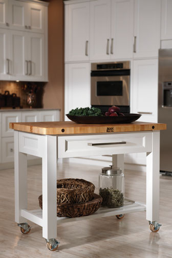Butcher Block Cart Kitchen Contemporary with None