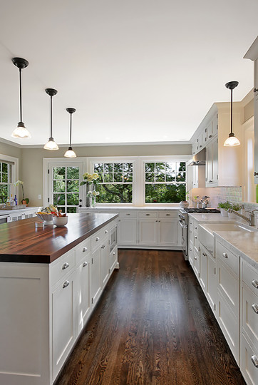 Butcher Block Island Kitchen Traditional with Cabinets Countertops Faucet Hardwoods Island Kitchen Kitchen Hardwoods Cabinets Island Wi Light