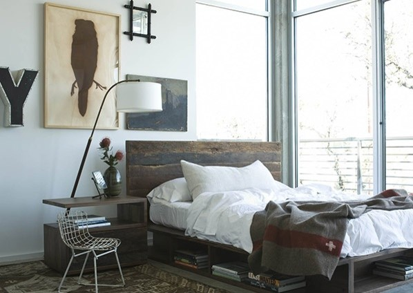 Cal King Bed Bedroom Farmhouse with Beam Bed Bina Bonnie California King Bed Low Platform Bed Peroba Platform