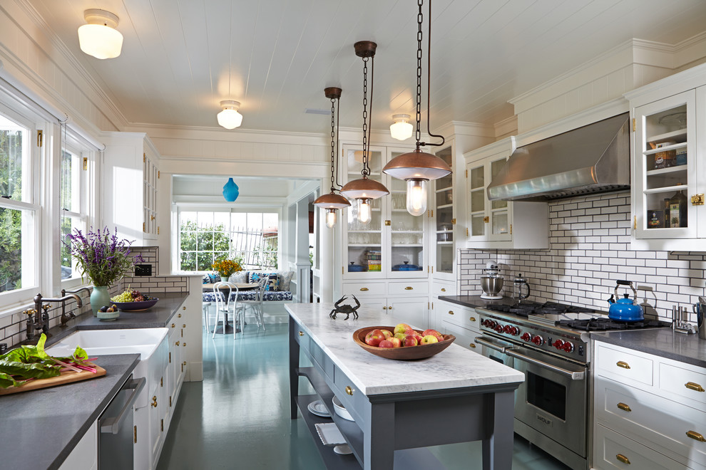 California King Down Comforter Kitchen Traditional with Pendant Lighting Range Tongue in Groove Ceiling Vent Hood White Kitchen White