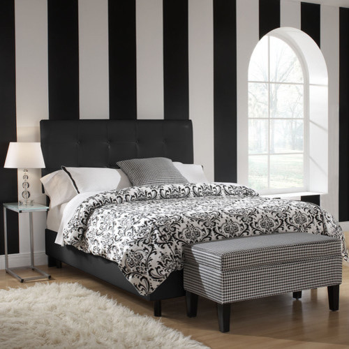California King Headboard Bedroom Modern with None 1