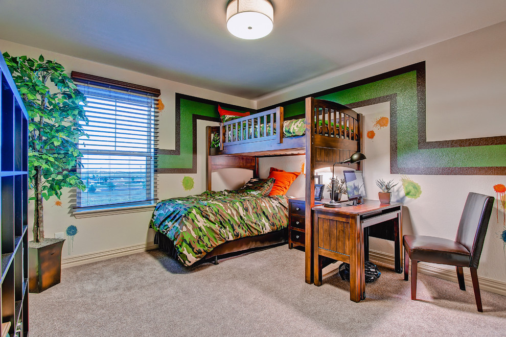 Camouflage Bedding Kids Eclectic with Boys Room Brown Chair Bunk Bed Camo Bedding Camouflage Bedding Capped Baseboard