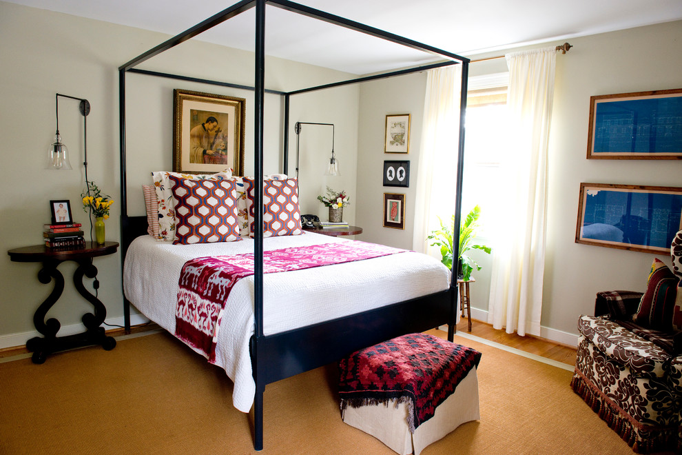 Camouflage Comforter Bedroom Eclectic with Blueprints Eklund Bed Euro Shams Four Poster Bed Geometric Ikea Kilim Master Bedroom