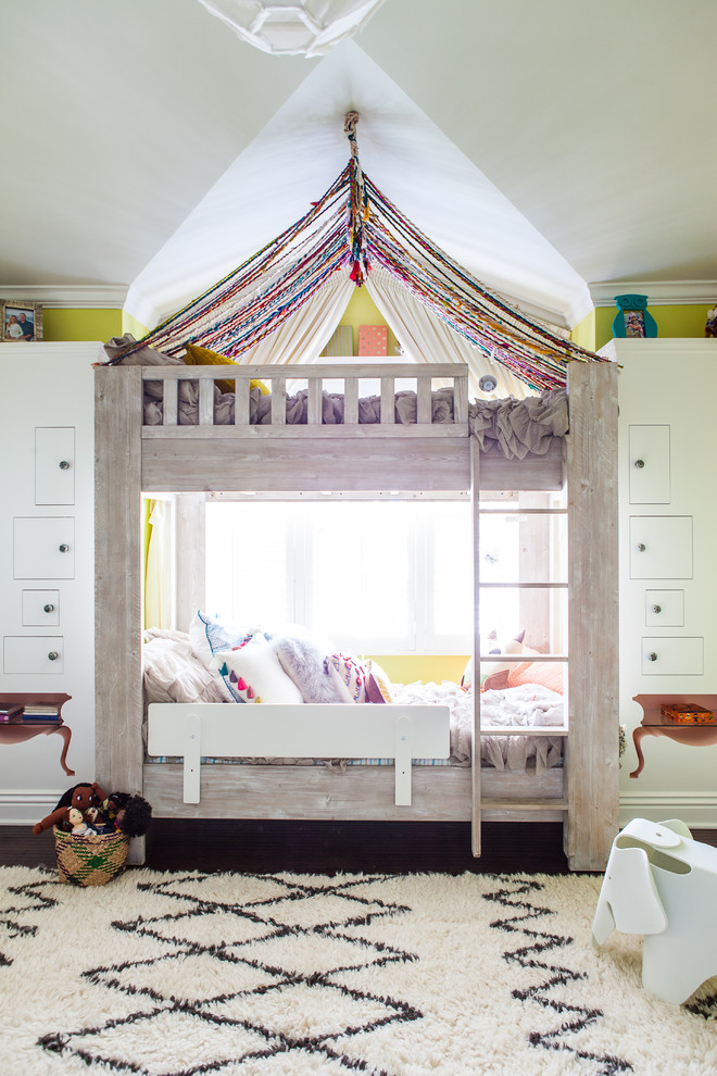 Canopy Tents for Sale Kids Transitional with Alcove Area Rug Bedding Bedroom Bunk Beds Dark Wood Floors Double Beds
