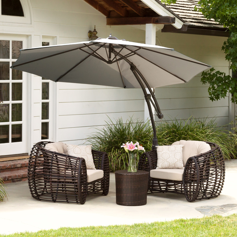 Cantilever Patio Umbrella Spaces Contemporary with Adjustable Cantilever Contemporary Outdoor Spaces Patio Umbrella Silver
