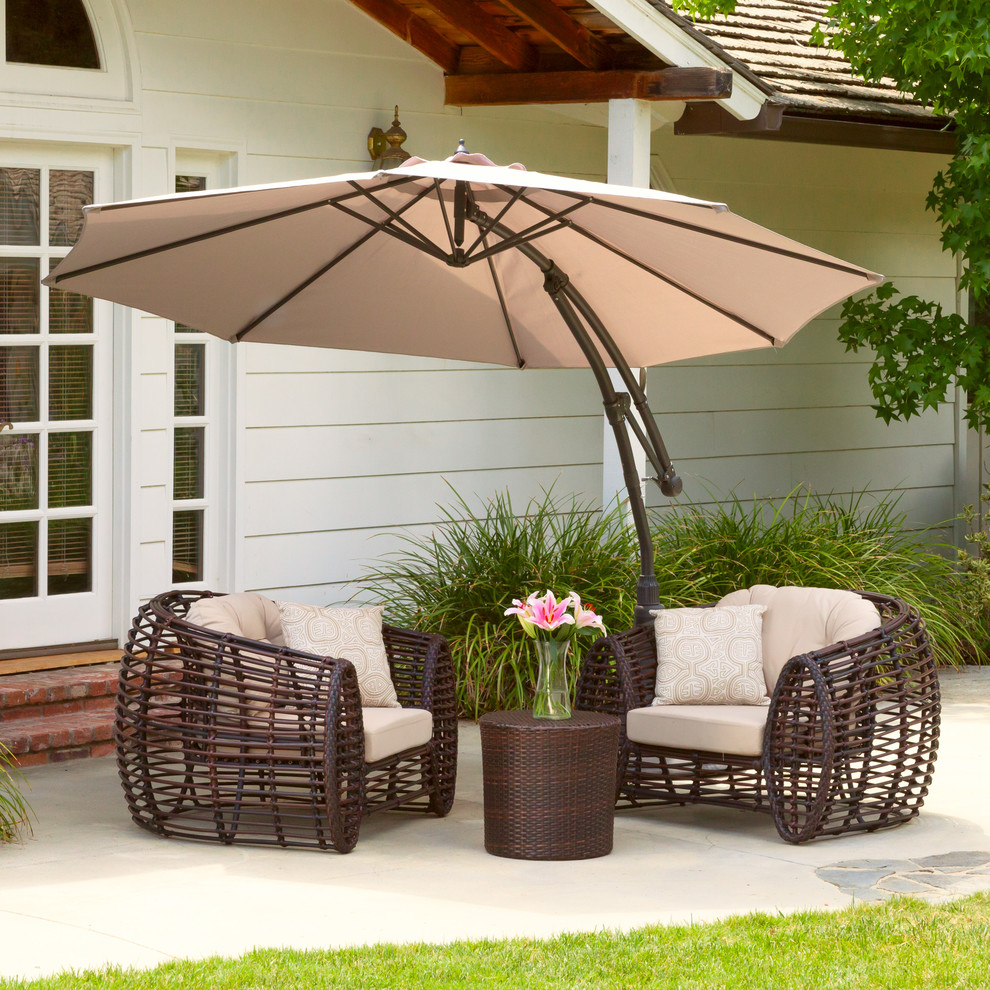 Cantilever Patio Umbrella Spaces Contemporary with Beige Canopy Cantilever Contemporary Outdoor Umbrella Patio Tan