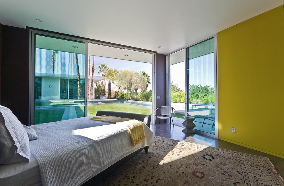 Captain Beds Bedroom with Bright Colors Contemporary Contemporary Design Desert Contemporary Minimalist Minimalist Design