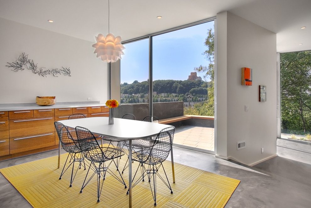 carpet squares Dining Room Contemporary with Architect buffet carpet tiles concrete floor dining room Eames FLOR Ikea interior