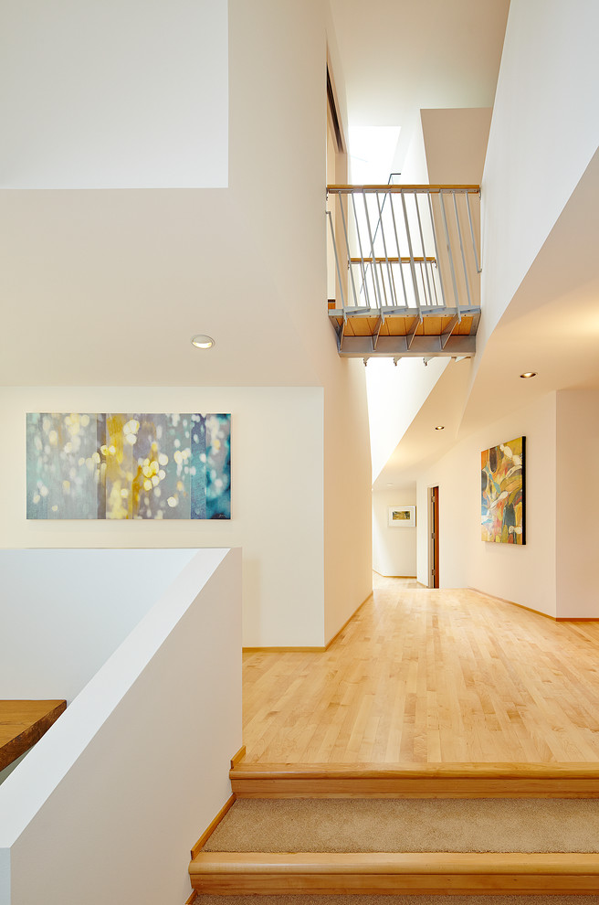 Carpet Stair Treads Entry Contemporary with Abstract Art Balcony Bridge Bright Carpet Stair Tread Colorful Art Contemporary Art