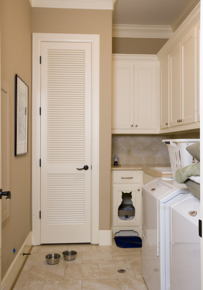 Cat Litter Boxes Laundry Room Eclectic with Cat Bed Laundry Room Laundry Storage Louver Door