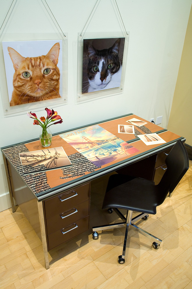 cat trees for large cats Home Office Contemporary with army desk CA Interior Decorators cat contemporary interior designers Decorators San Francisco