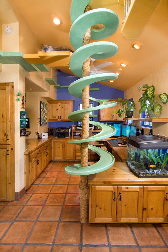 Cat Trees for Large Cats Home Office Eclectic with Animals Catwalk Home Office Media Center Office Vaulted Ceilings