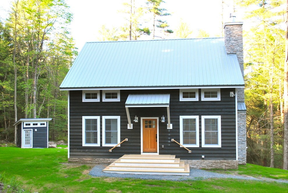 Catskill Craftsmen Exterior Traditional with Awning Barn Barn House Catskill Catskill Farm Catskills Country Covered Entry Escape