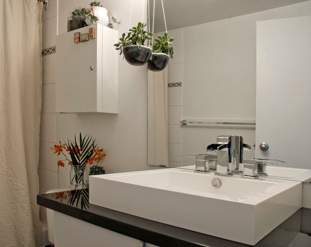 Ceramic Planters Bathroom Eclectic with None