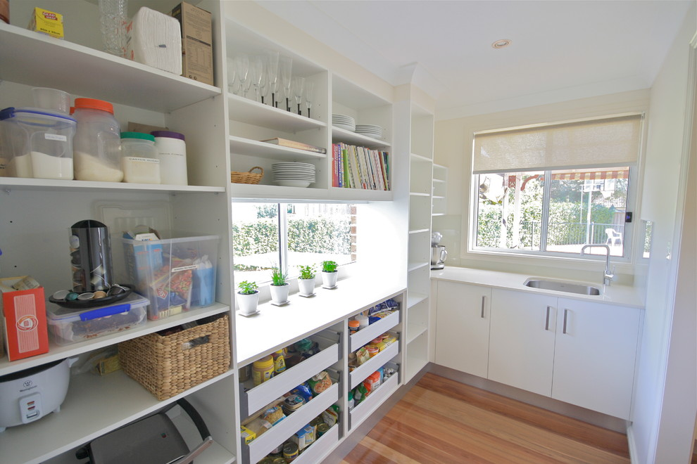 Cereal Dispenser Kitchen Traditional with 20mm Australian Made Bulkhead Butlers Pantry Caesarstone Decorative Drawers Kitchen Renovation Open