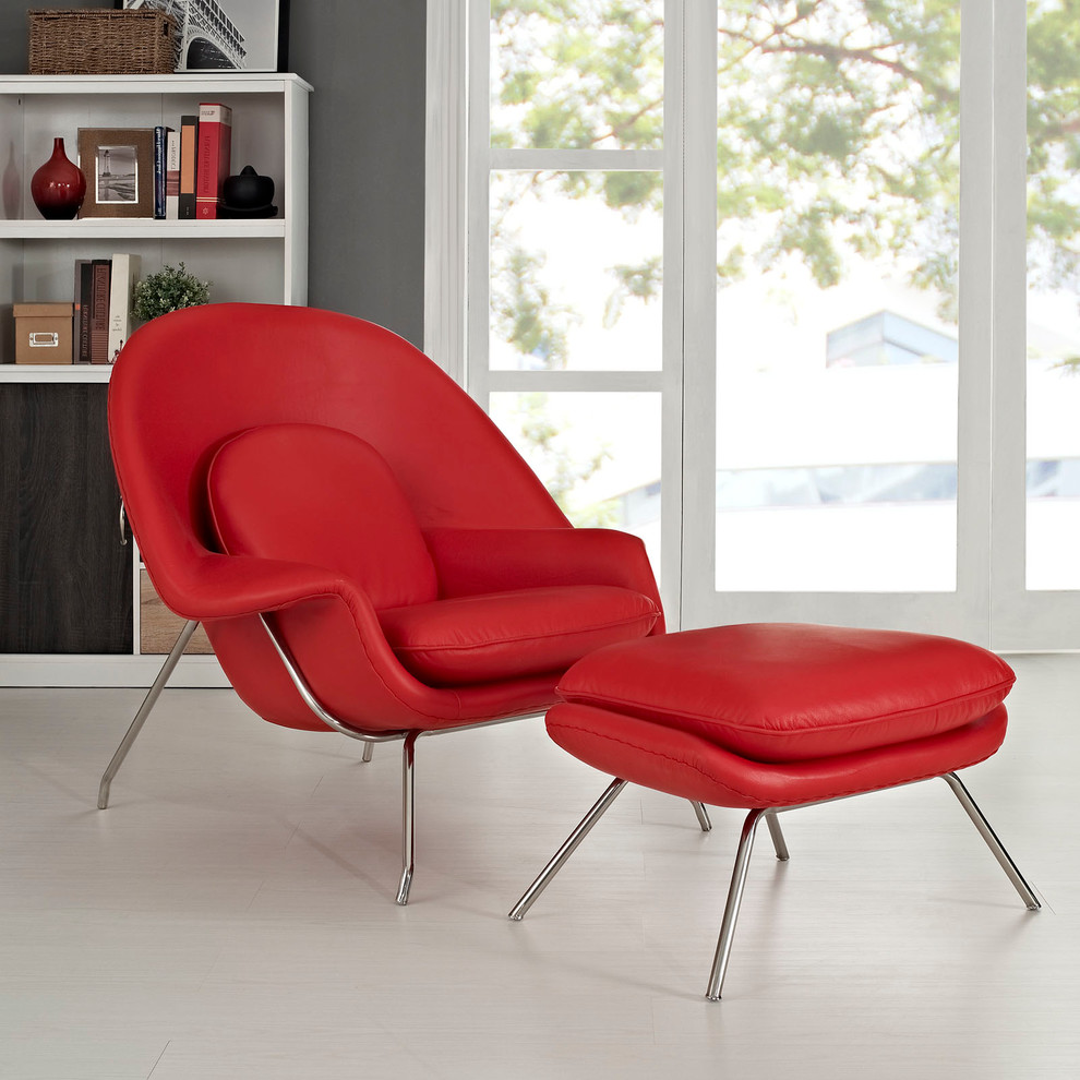 Chair and Ottoman Set Spaces Modern with Lounge Chair with Ottoman Set Mid Century Modernism Red Accent Chair W Lounge