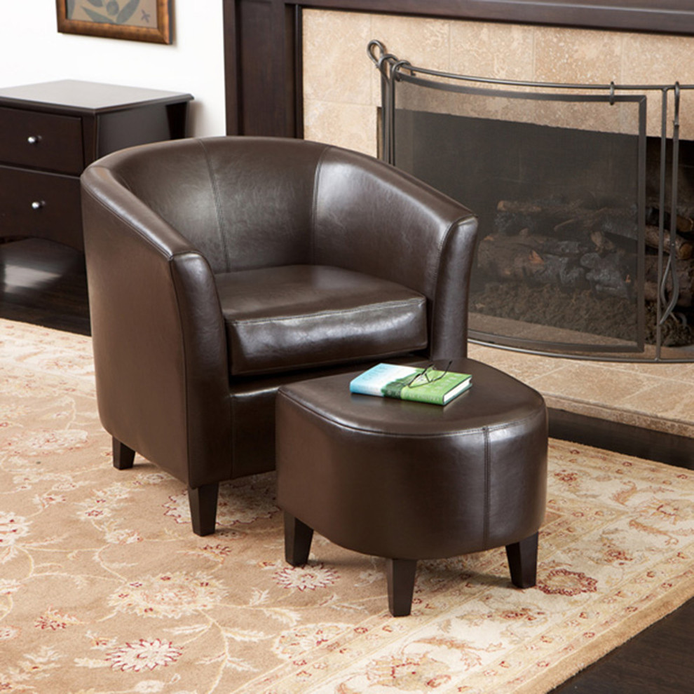 Chair and Ottoman Sets Living Room Modern with Brown Club Chair Ottoman Set Leather Club Chair Ottoman