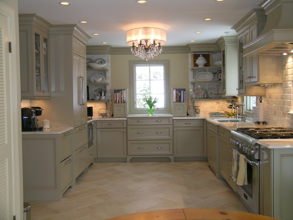 Chandelier Shades Kitchen Traditional with Chandelier Country Kitchen Footed Cabinets Herringbone Kitchen Hardware Kitchen Shelves Shade Chandelier