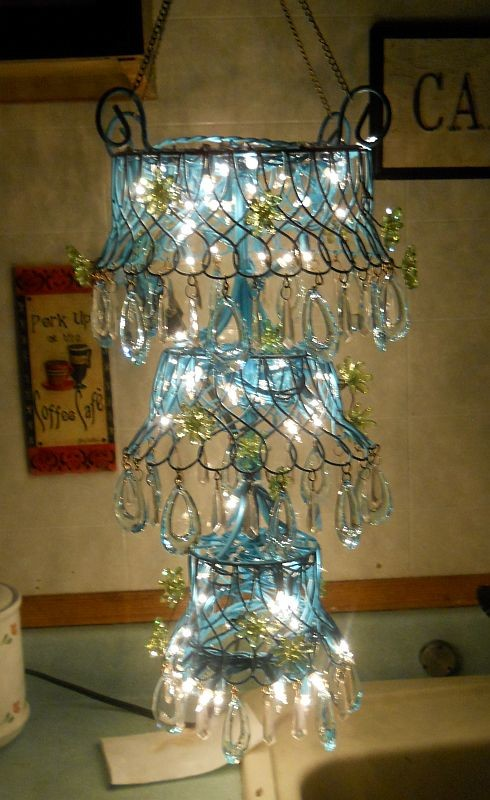 Chandeliers Cheap Spaces Eclectic with Back Yard Baubles Blue Chandelier Cheap Christmas Lights Classy Colorful Crafts Deck