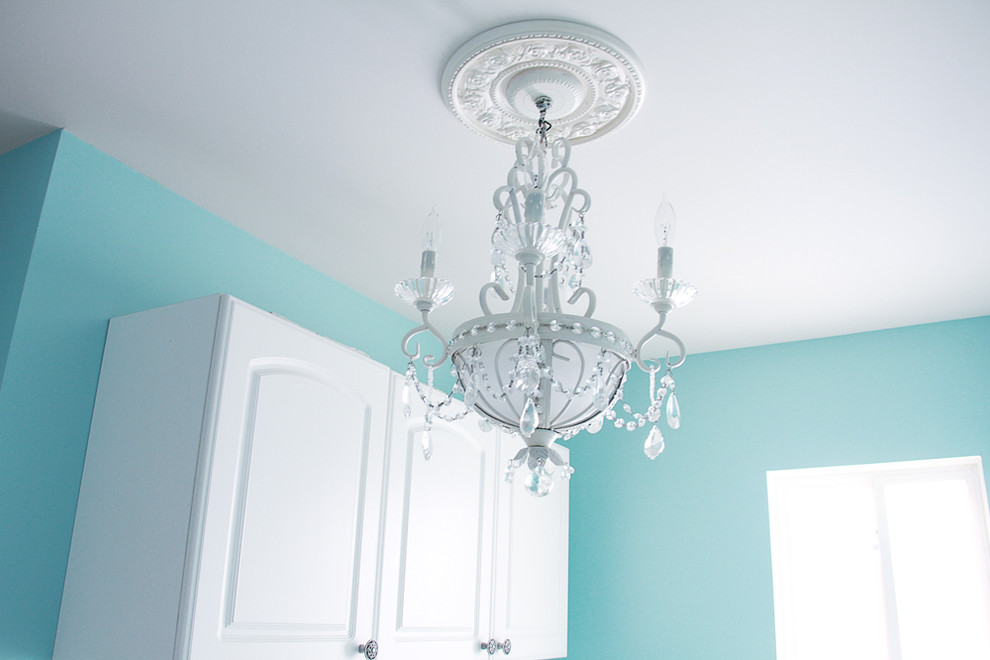 Cheap Chandeliers Laundry Room Eclectic with None