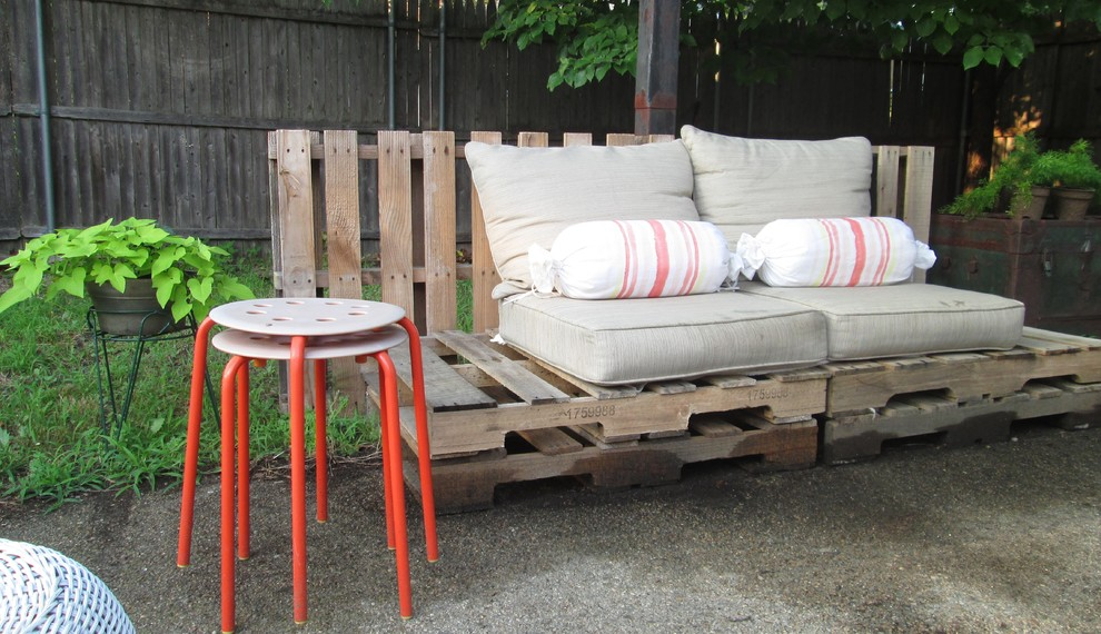 Cheap Comforter Sets Patio Eclectic with Backyard Orange Stools Outdoor Furniture Pallet Refurbished