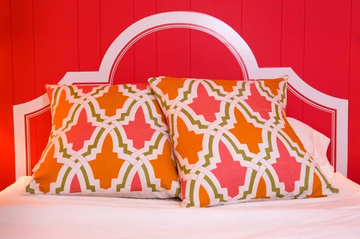 Cheap Headboards Bedroom with Bedroom Bright Color Cottage Eclectic Fabric Moroccan Pink Print Small Space Storage